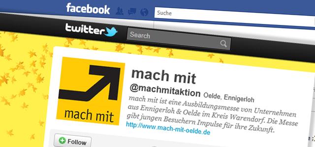 """Facebook & Co. und """"mach mit"""" ist dabei"""