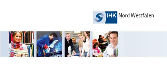 """Mit der """"berufsbildung"""" informiert die IHK Nord Westfalen Ausbilder und Auszubildende in Unternehmen sowie Prüfer und Lehrer über aktuelle Entwicklungen in der beruflichen Aus- und Weiterbildung. Die Broschüre erscheint monatlich. Sie kann auch über die IHK-App gelesen werden."""